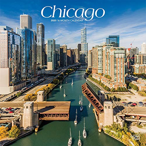 (Chicago 2020 12 x 12 Inch Monthly Square Wall Calendar, USA United States of America Illinois Midwest City)