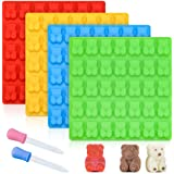 Gummy Bear Molds Candy Molds - Large Gummy Molds 1 Inch Bear Chocolate Molds Silicone 4 Pack LFGB Pinch Test Approved Best Food Grade Silicone Molds
