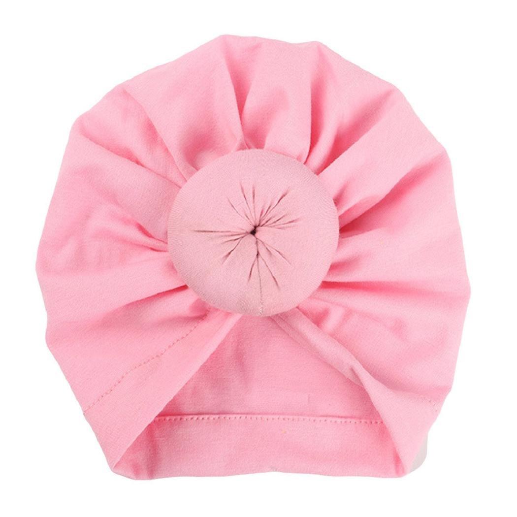 shenpr子供ベビー女の子バタフライBoho帽子ビーニースカーフターバンヘッドラップキャップ B07DNW1MCJ Pink_666 Pink_666