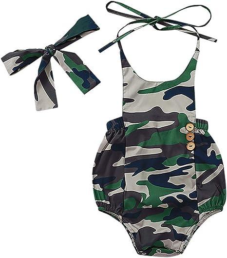 A Giant Ape Baby Kids Camo Shark Infant Summer Jumpsuit Bodysuit Outfit Set