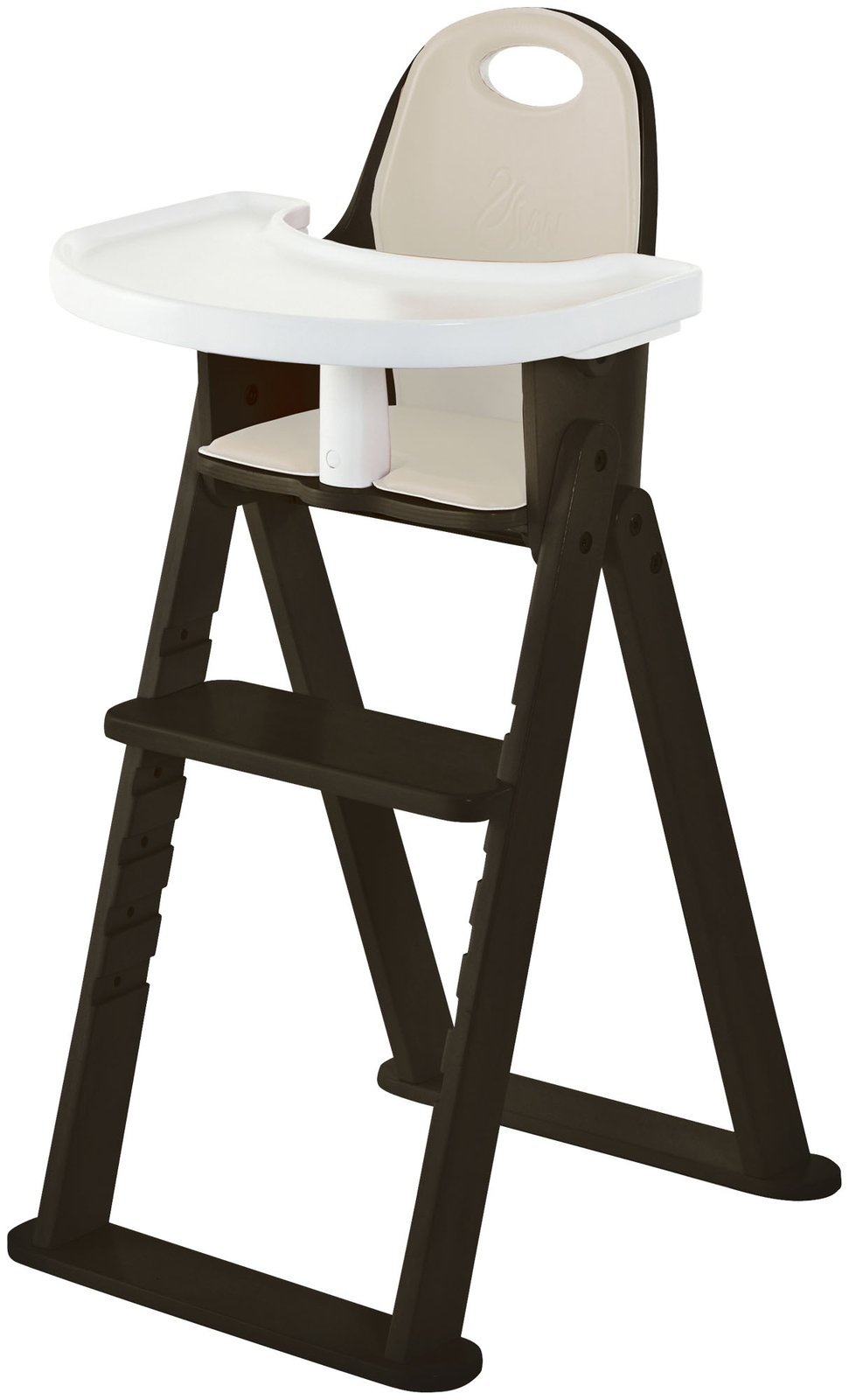 High Chair – Award Winning Svan Baby to Booster Bentwood Folding Chair with Removable Cushion and Harness (6 mos – 5 yrs) (Espresso)
