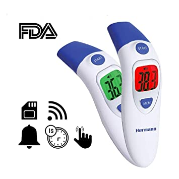 Thermometers Realistic Medical Ear Infrared Thermometer Adult Baby Body Fever Temperature Measurement High Accurate Family Health Care