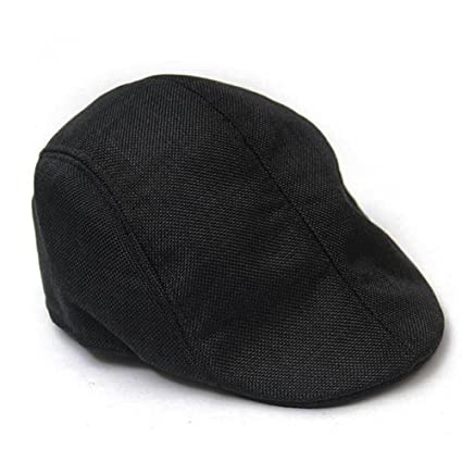 e7dd118b429 Itemap Men Golf Driving Sun Flat Cabbie Newsboy Unisex Herringbone Duckbill  Ivy Hat Cap (Black