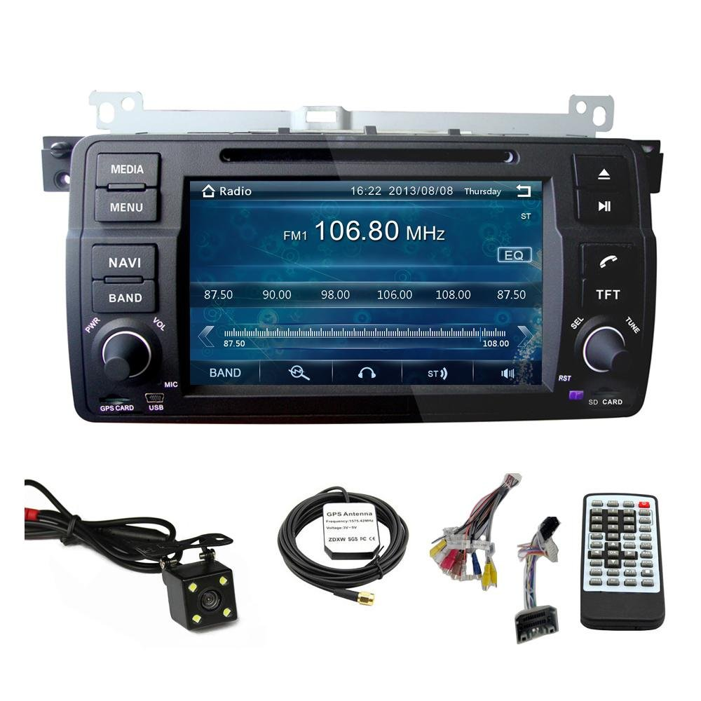 Amazon.com: Car GPS Navigation System for BMW 3 series E46 318 320 325 / BMW  M3 Single Din Car Stereo DVD Player 7 Inch Touch Screen TFT LCD Monitor  In-dash ...