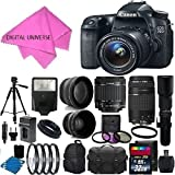 Canon EOS 70D 20.2 MP Digital SLR with Premium Starter Bundle with Lens, Stand and Accessories