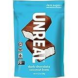 UNREAL Dark Chocolate Coconut Bars   Certified Vegan. Less Sugar, Gluten Free   6 Bags