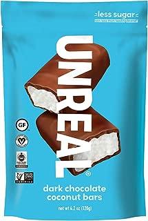 product image for UNREAL Dark Chocolate Coconut Bars | Certified Vegan. Less Sugar, Gluten Free | 6 Bags