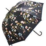 macocca(マコッカ) 完全遮光 遮光率100% UVカット率100% 超撥水 デザインシリーズ 晴雨兼用傘 ジャンプ傘 58cm カラフル小花柄