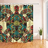 SZDR Animal Series - Colorful Turtle Shower Curtain 69X70 inch Proof Polyester Fabric Bathroom Perfect Decoration Shower Curtain