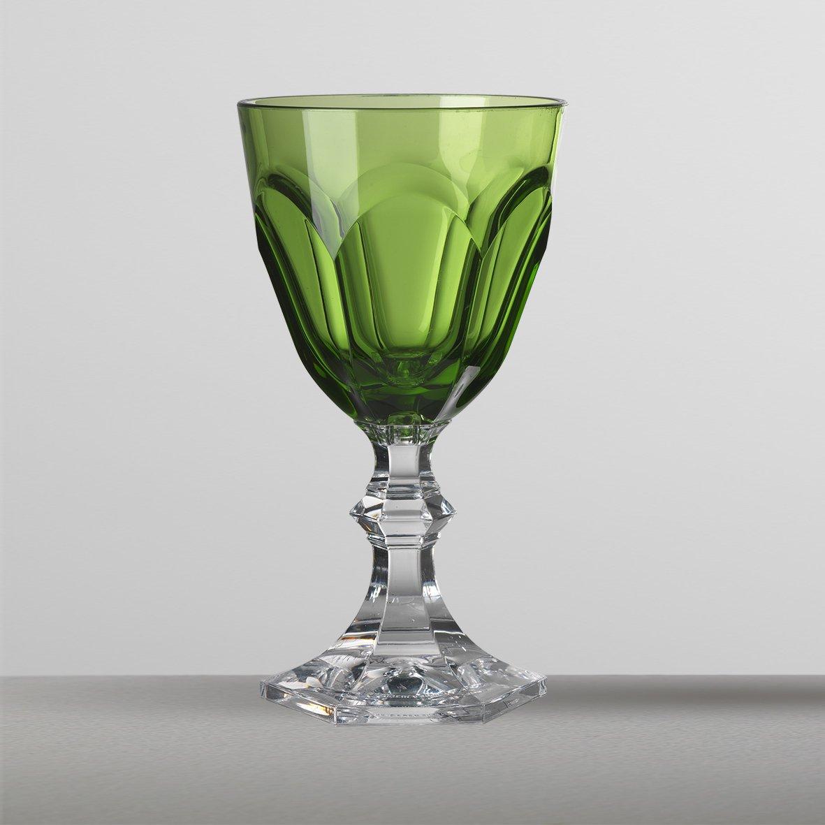 Mario Luca Giusti Set 6 Dolce Vita Water Glass Green by Mario Luca Giusti