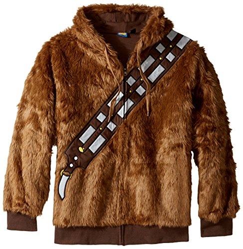 Star Wars Men's I Am Chewie Hooded Costume Fleece, Brown, Small (Star Wars Chewbacca Costume)