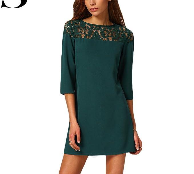 new styles 7c13f 111b6 Female Shift Dresses Women Vestiti Donna Casual Dark Green ...
