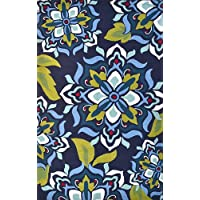 The Rug Market Andalucía Area Rug, 24x39-Inch, Navy Blue