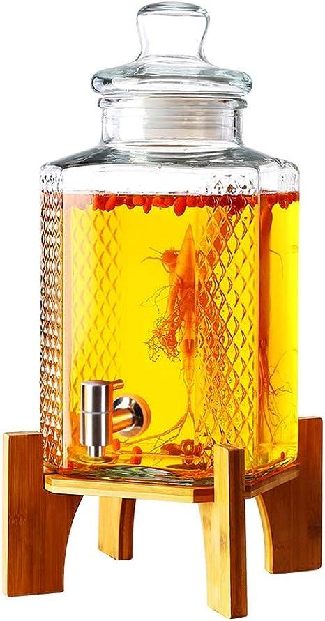 Compra Xiao Jian- Botella de Vidrio de Vino espumoso Barril de Vino con Grifo Remojo de Frasco de Vino Espesamiento sin Tanque de Vino Botella de Vino Barril de Vino -10 Kg