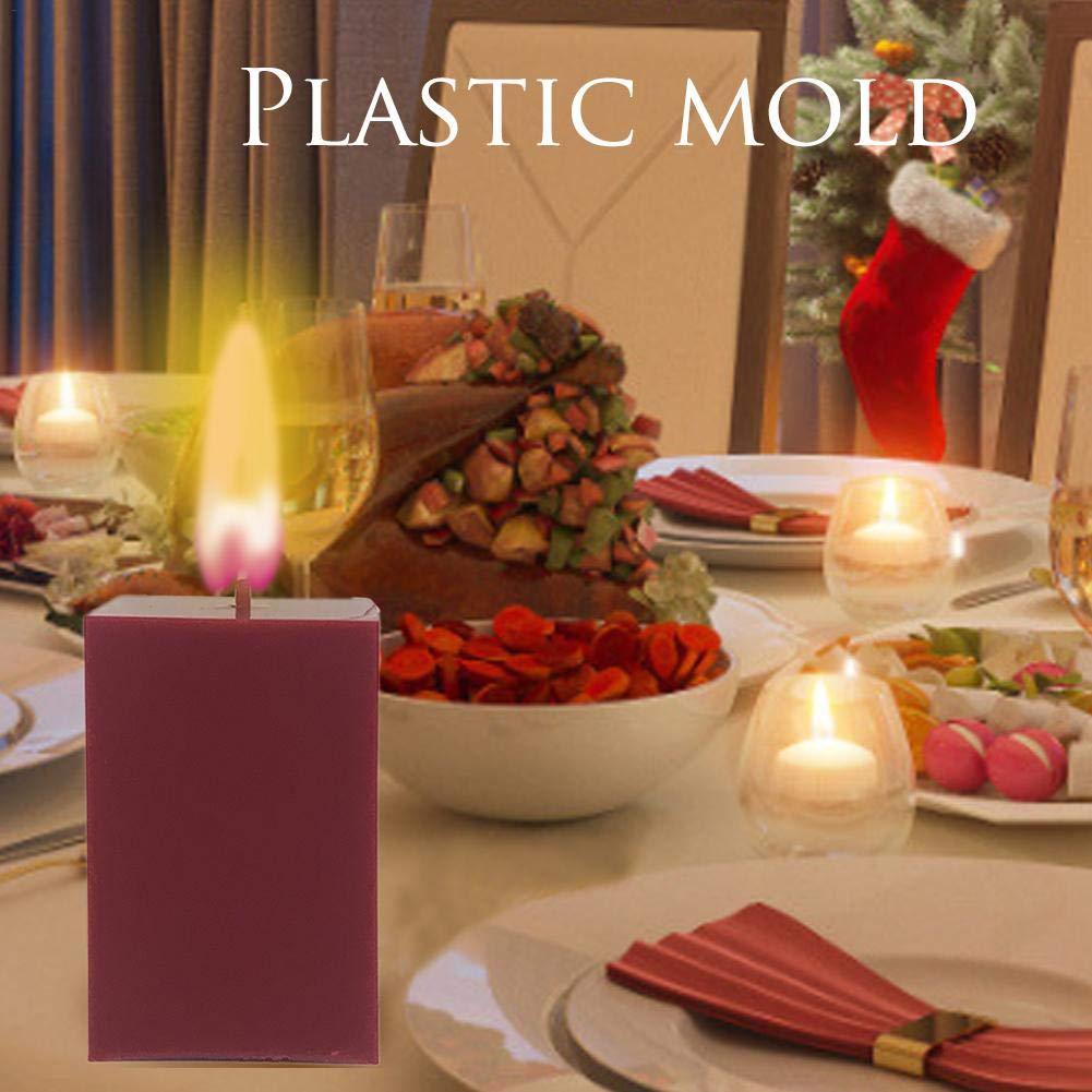 DIY Kerze machen Bastelbedarf Kunststoff quadratische Kerzenformen