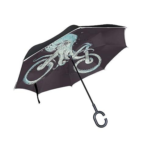c8d15ecc597f Amazon.com : WBKCQB Funny Bicycle Shape Octopus Cars Reverse Open ...
