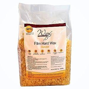 Wax Necessities Hard Wax Beads Natural 2.2 Pound