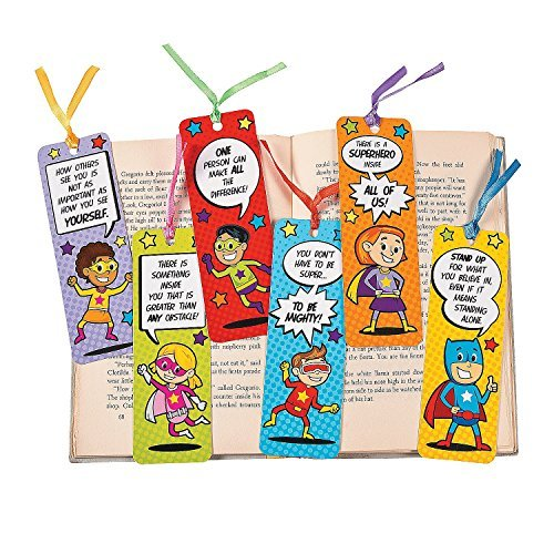 """48 ~ Superhero Laminated Bookmarks ~ Size: 2"""" x 6"""" ~ New"""