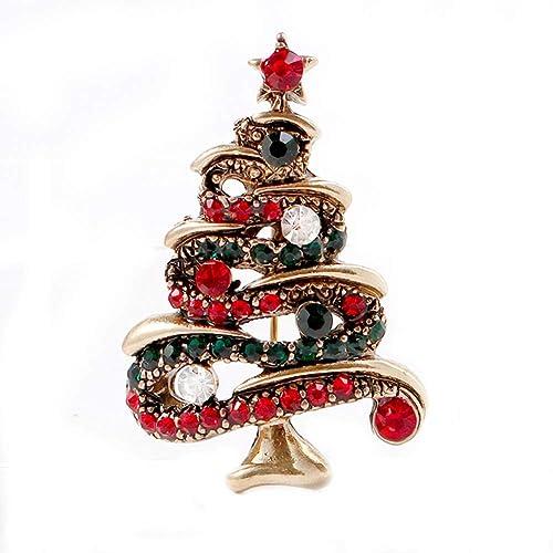 Amazon.com: Fablcrew 1 Pcs Brooches Cute Christmas Sparkle ...