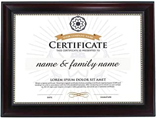product image for flag connections 8.5x11 Diploma Frame Mahogany with Gold Beading |Real Glass|Wall & Tabletop Design
