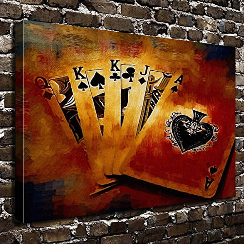 COLORSFORU Wall Art Painting Poker Prints On Canvas The Picture Landscape Pictures Oil For Home Modern Decoration Print Decor For Living Room by COLORSFORU