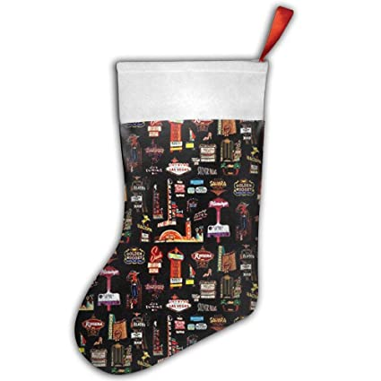 Amazon Com Tenew Las Vegas Christmas Stocking Christmas Decor 18