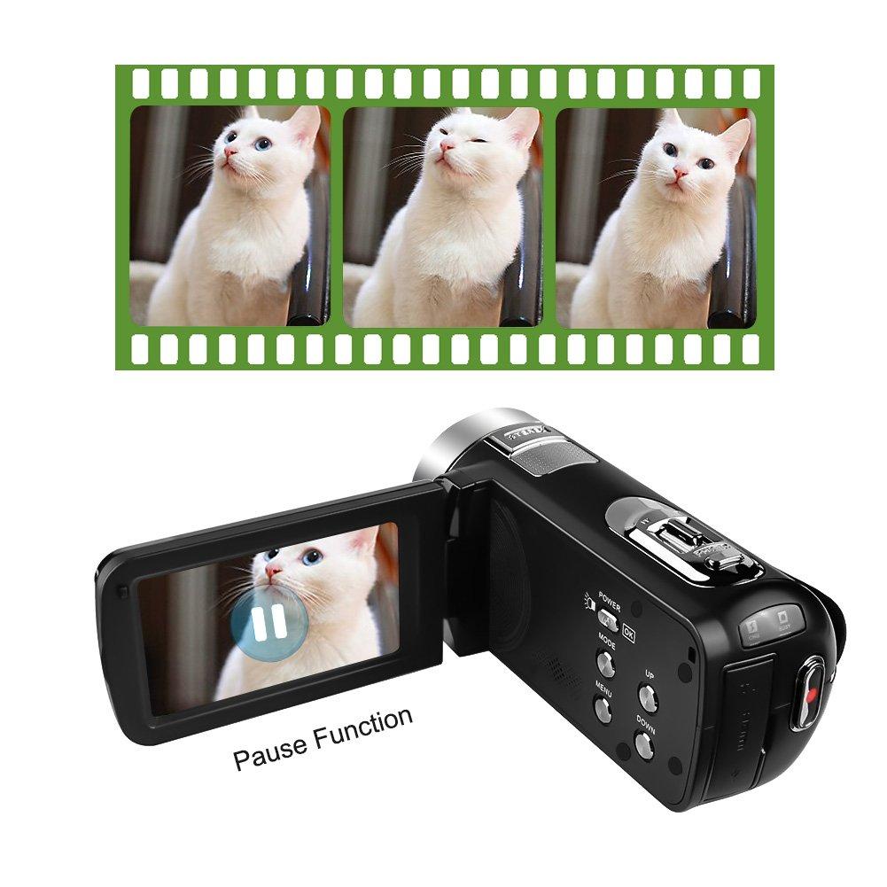 Videokamera Full-HD Camcorder 1080p 24 Megapixel-Digitalkamera fur Standbilder