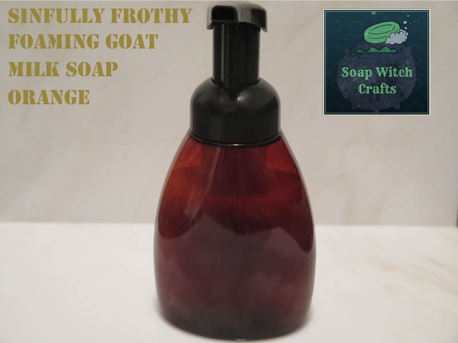 Sinfully Frothy Foaming Goat Milk Soap - Orange Scented