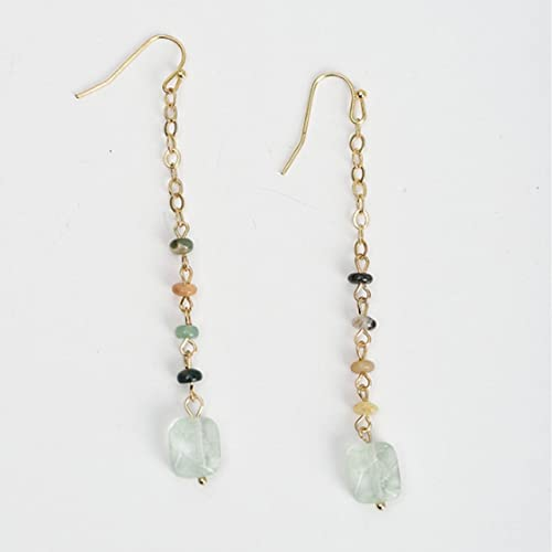 32156d51d44d Natural Stone Beads Drop Earrings Delicate Gold Link Chain Long Dangle  Earrings Jewelry for Women Party Gift  Amazon.ca  Handmade