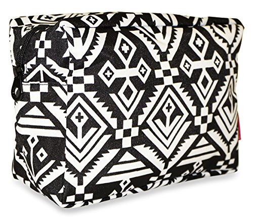 Ever Moda Mayan Tribal Cosmetic Pouch Black (Tribal Eye Makeup)
