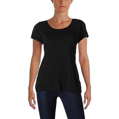 6b9cbef1c LAUREN RALPH LAUREN Stretch Cotton Jersey Scoop Neck T-Shirt Tee at ...