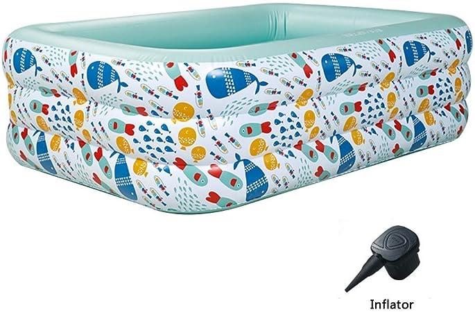 Piscina hinchable grande patio piscina inflable hinchable piscina hinchable (color: verde, tamaño: 150 x 105 x