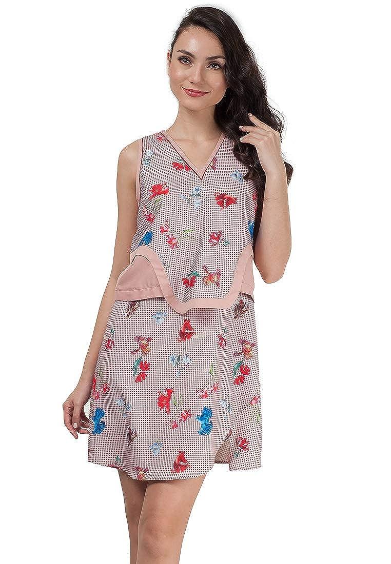 Multi Plains and Prints Womens Georgie Sleeveless Dress