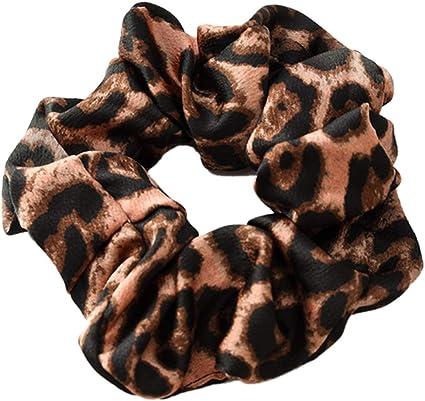 Viesky stile vintage da donna motivo leopardato colorato grande stile coreano Elastico per coda di cavallo