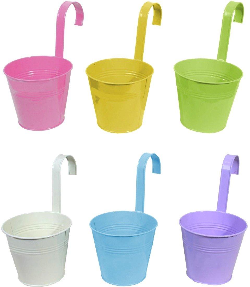 Unterschiedlich ISWEES Groß Pflanzgefäß Hängetöpfe 3er Set Blumentopf Farben  AC29