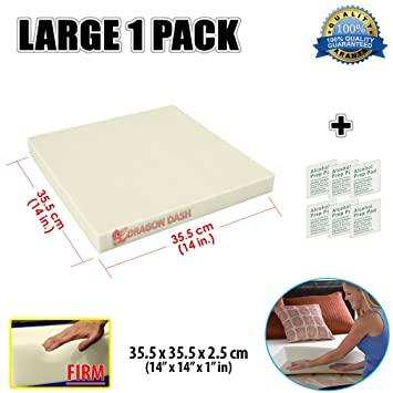Super Dash New 35.5 X 35.5 X 2.5 cm Firm Density 28KG/M3 Pieza de Espuma para Tapiceria Upholstery Foam Cushion Sheet Foam Padding SD1137: Amazon.es: Hogar