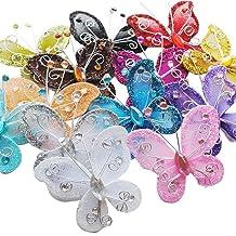 Chenkou Craft Organza Wire Butterfly Wedding Decorations 26pcs