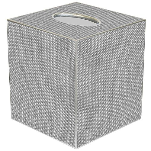 - Marye-Kelley TB8402 - Grey Linen Texture Tissue Box Cover