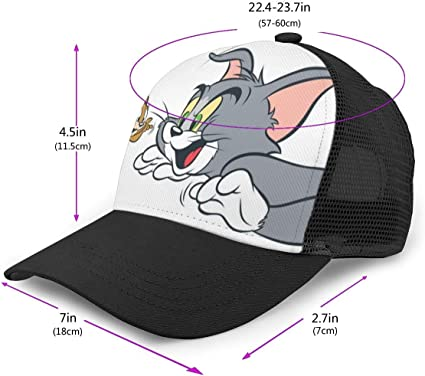 Anime Game Girl Beautiful and Cute Baseball Cap Hip Hop Hat for Men Women Teens Black Adjustable Baseball Caps Nylon Mesh Sun Hat