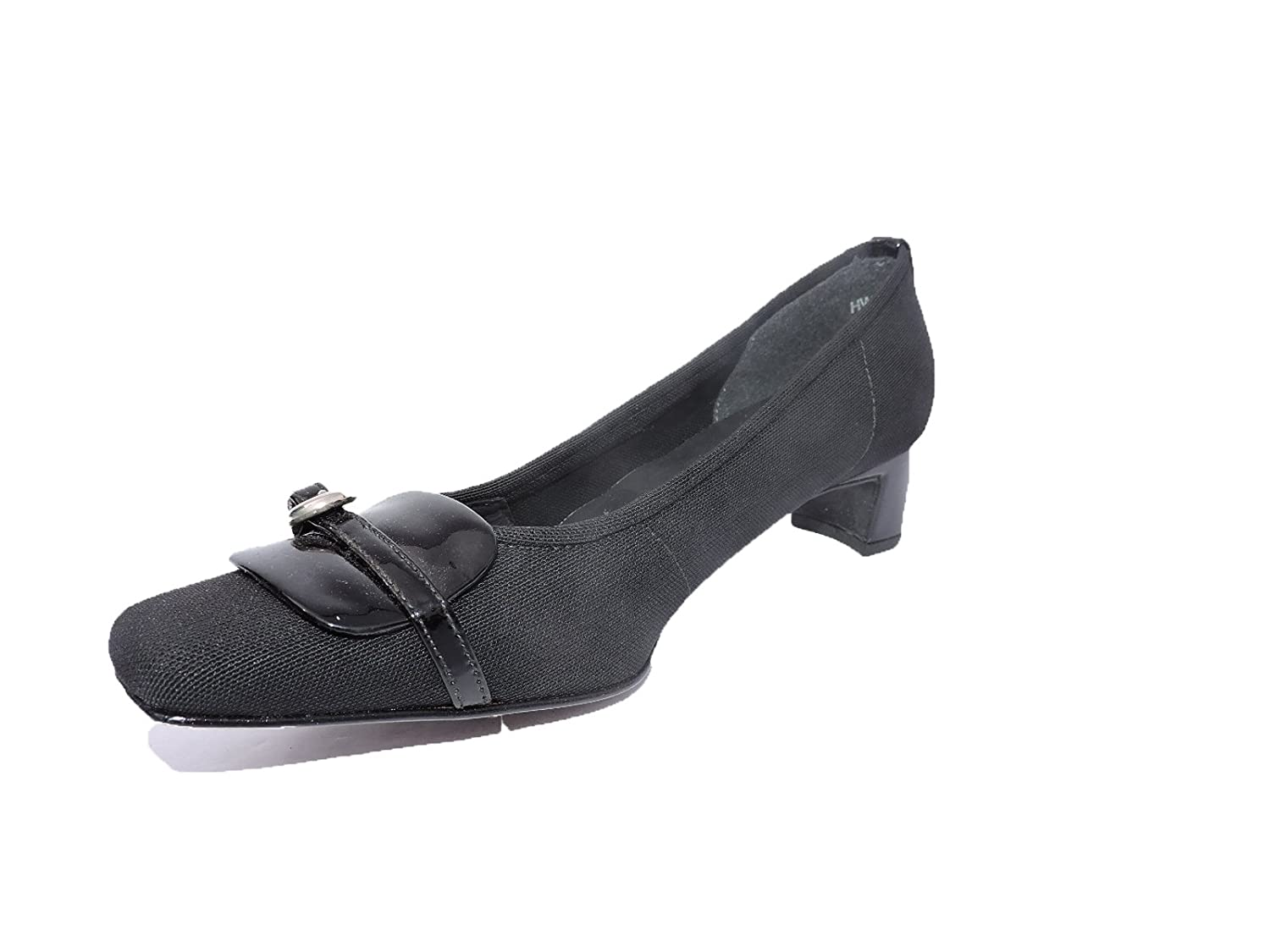 c44e635763d Amazon.com  Stuart Weitzman Womens Enclave Black Gauze Stretch Pumps 1.5