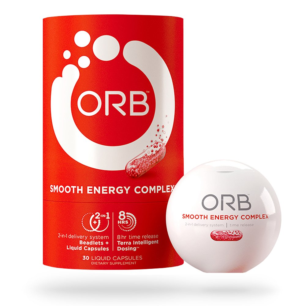 ORB Smooth Energy Complex – Energy Formula + MCT Oil for Easier Absorption | Provides Sustained