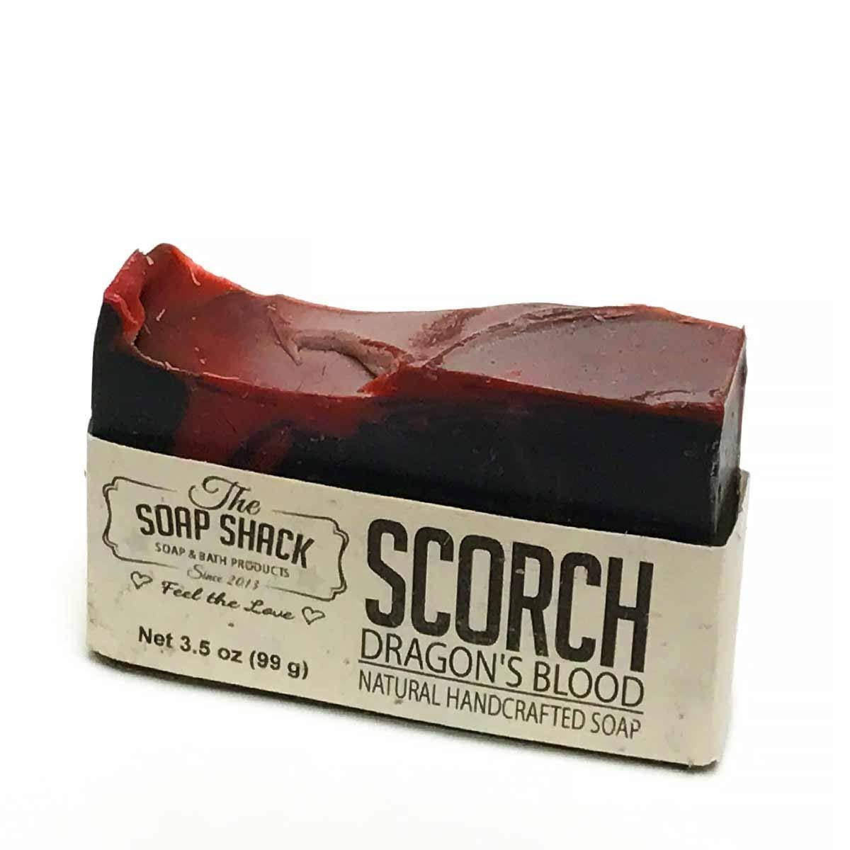 Dragons Blood Soap-Handmade Soap-Cold Process Soap-Activated Charcoal-Sandalwood-Myrrh-Patchouli-By The Soap Shack