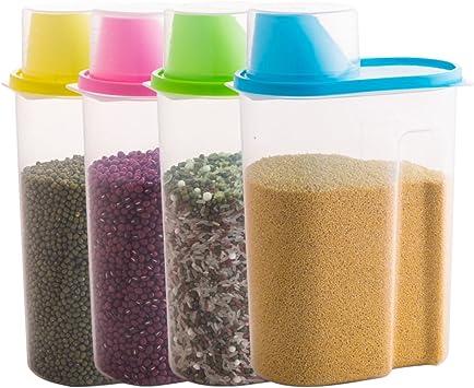 Klar, dauerhaft haltbare kunststoff vorratsdosen