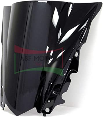 Protek ABS Plastic Injection Black Smoke Double Bubble Transparent Windscreen Windshield for 2006 2007 Yamaha YZF R6