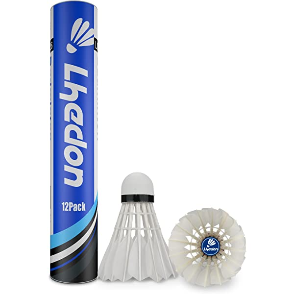 Amazon.com : Badminton Shuttlecocks, Lhedon 12Pcs Advanced ...