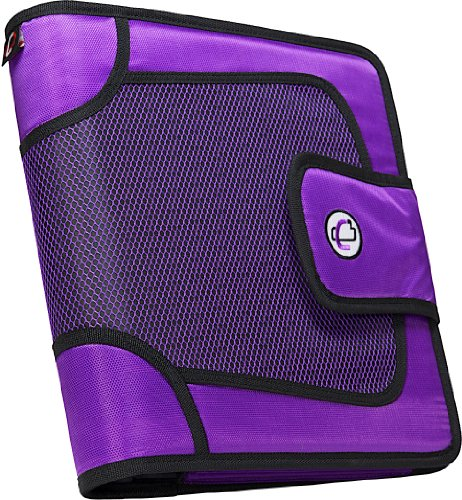 (Case-it Open Tab Velcro Closure 2-Inch Binder with Tab File, Purple, S-816-PUR)