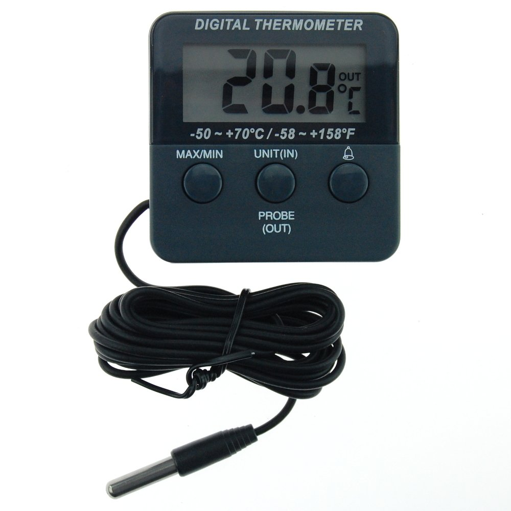 Digital Fridge Thermometer with Alarm and Max Min Temperature Feature Freezer Chiller Cooler
