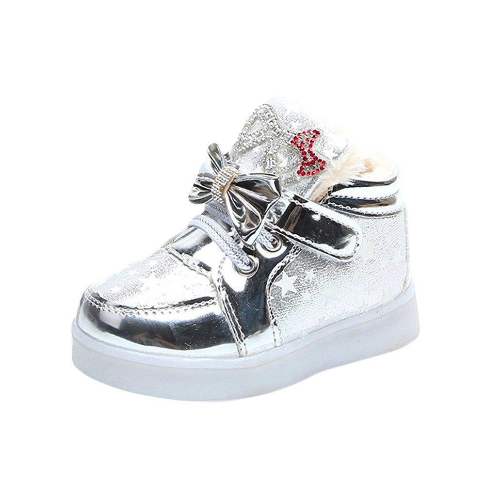 Toddler Baby Fashion Sneakers Cute Star Luminous Child Casual Colorful Light Shoes