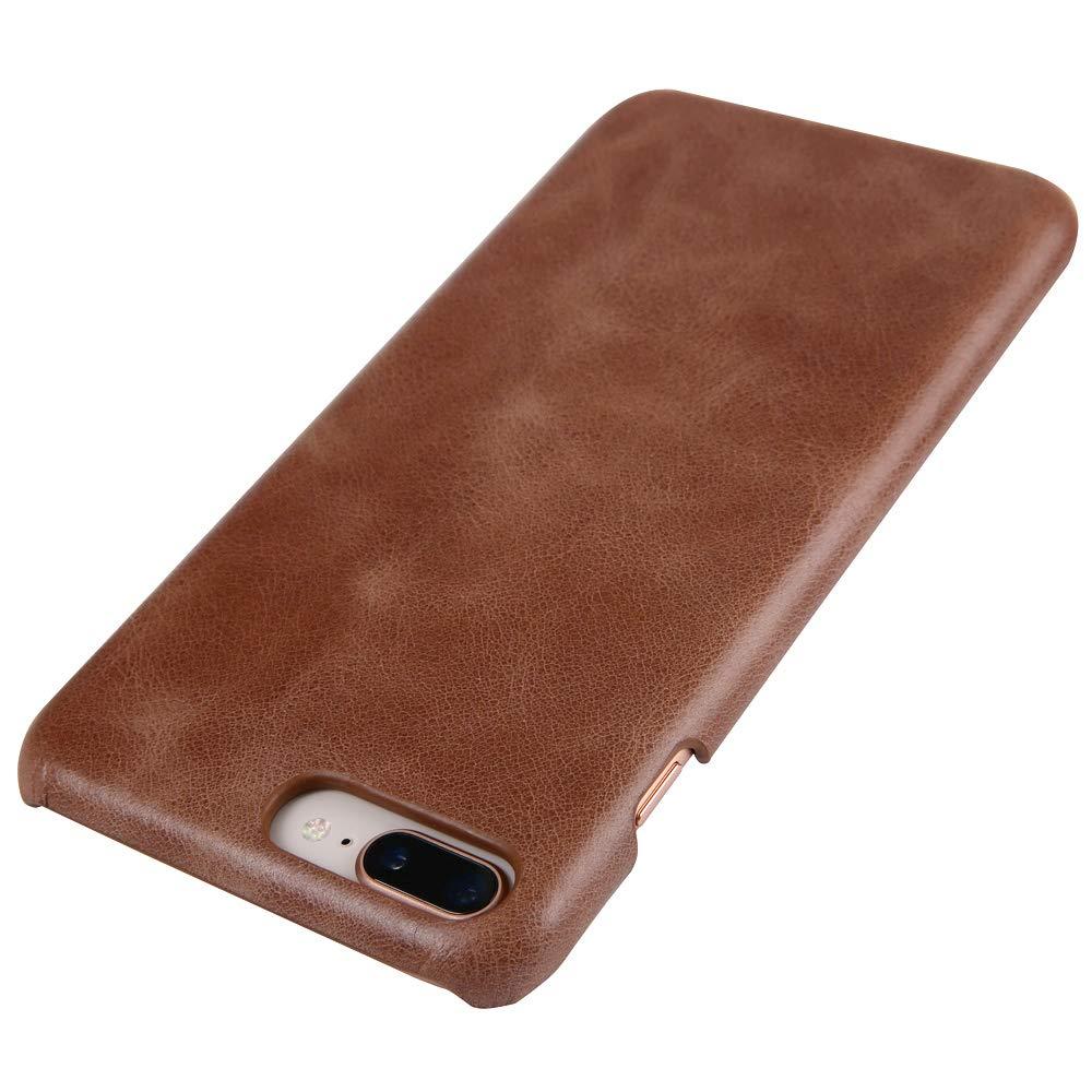 iPhone 7 Plus/iPhone 8 Plusレザーケース、Reginnスリムフィット電話カバー[ワイヤレス充電対応] iPhone 7 Plus/iPhone 8 Plus用本革ケース(サドルブラウン)   B07KMDJT63