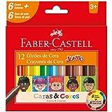 Gizão de Cera, Faber-Castell, Caras & Cores, 6 Cores + 6 Tons de Pele